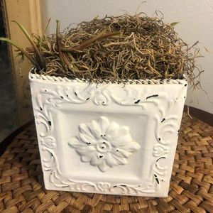 Southern Living At Home Pressed Tin Planter. Fill